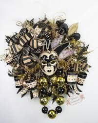 black and gold mardi gras xl mardi gras wreath black gold mardi gras wreath venetian