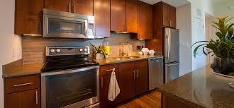 Cherry Kitchen Cabinets With Granite Countertops Apartments Apartment Facilities Kitchen Appliances Cherry Cabinet