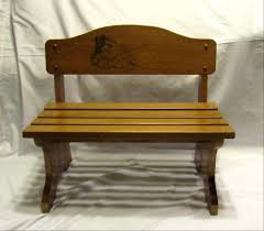 personalized wood childrens bench custom engraved design