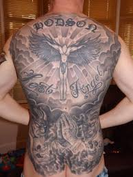 angel and demon tattoos on back tattoos book 65 000 tattoos