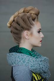 braided pompadour hairstyle pictures heather chapman french braided pompadour hairstyle side view