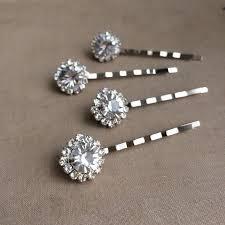 rhinestone hair silver hairpin rhinestone hair pin 4 pc bridal hair pin wedding