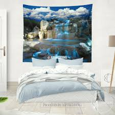 wall ideas artificial waterfall wall lighted waterfall wall art waterfall wall art waterfall wall tapestry nature wall decor night waterfall wall art print bedroom livingroom wall tapestries boho wall hanging bohemian