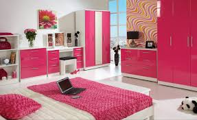 Red And White Modern Bedroom Design Ideas For Modern White Girls Bedroom With Pink Color Scheme