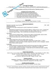Biologist Resume Sample 28 Sample Resume Medical Laboratory Scientist Lab