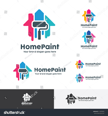 Home Decoration Com by House Paint Logo Home Decoration Company Stock Vector 417025555