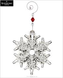 waterford 2013 snow crystal pierced christmas ornament
