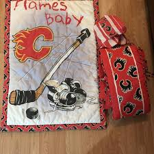 Crib Bedding Calgary Find More Calgary Flames Crib Bedding Set For Sale At Up To 90