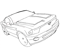 free printable mustang coloring pages for kids