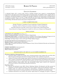 Pharmaceutical Regulatory Affairs Resume Sample Robert E Parson Resume
