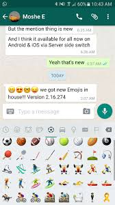 how to add emoji to android water gun whatsapp brings ios 10 s emojis to its android beta