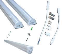 led 4 ft lights t8 led tube light integrated fixture 4 foot 18w 120v ac etl
