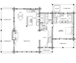 log home floor plan homestead
