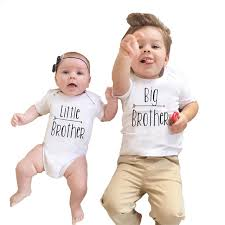 2017 babies brothers matching clothing baby boy bodysuit