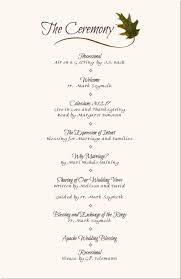 wedding ceremony programs wording wedding reception program sle service kid s wedding ideas
