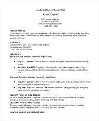 Resume For A Part Time Job by Resume For High Student With No Job Experience Template