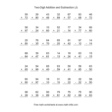 addition single digit addition and subtraction worksheets