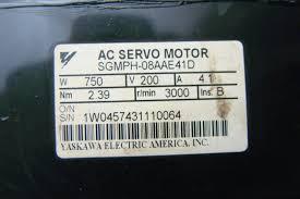 yaskawa ac servo motor 750w sgmph 08aae41d w alpha gearbox sp075