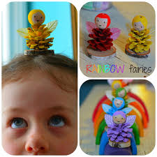 rainbow pinecone fairies step by step tutorial shows how to turn