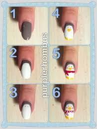 christmas nail art with santa clause design nails