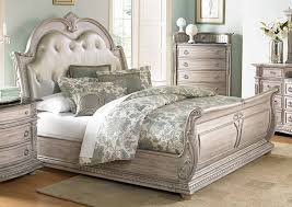 homelegance palace ii upholstered bed weathered white rub homelegance palace ii upholstered bed weathered white rub through