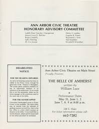 ann arbor civic theatre program hello dolly may 09 1984 ann