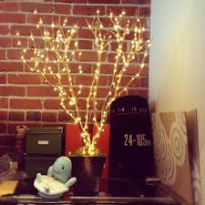 led lit tree branch decoration tutorial decorating by