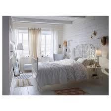 Ikea Canopy Bed Frame Leirvik Bed Frame White Luröy Standard King Ikea