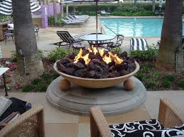 Fire Pit Lava Rock by Fire Pits Essex Copper Firebowl With Tumbled Lava Rock