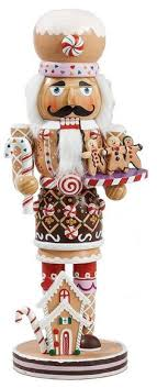 kurt adler gingerbread baker w cookies nutcracker