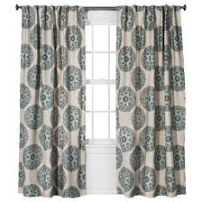 twill woven medallion curtain panel threshold target