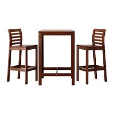 sgabelli legno ikea äpplarö tavolo e 2 sgabelli bar äpplarö mordente marrone ikea