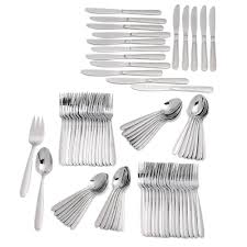 castle 82 pc flatware set