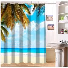 Palm Tree Bathroom Accessories by Online Buy Wholesale Palm Tree Shower Curtain From China Palm Tree