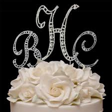 s cake topper bling monogram wedding cake toppers mini bridal