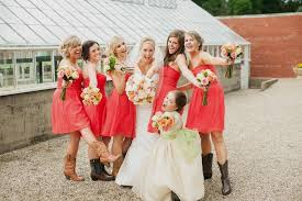 pink bridesmaid dresses with cowboy boots naf dresses