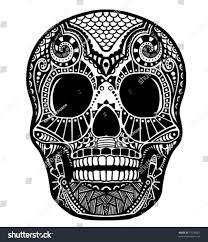 skull ornament stock vector 71230507