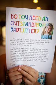 How To Describe Babysitting On Resume Best 25 Babysitting Flyers Ideas On Pinterest Babysitting