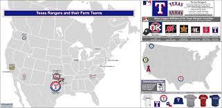 Frisco Texas Map Mlb Ball Clubs And Their Minor League Affiliates The Texas