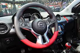 opel adam interior opel adam s steering wheel at the 2014 paris motor show indian