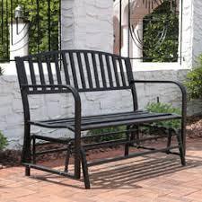 metal outdoor glider bench