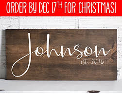 wedding gift signs wedding gifts last name signs for home family