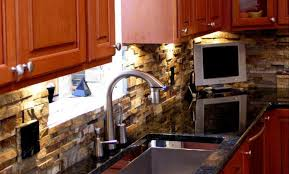 Veneer Kitchen Backsplash Kitchen Stacked Veneer Kitchen