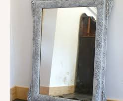 shabby chic bathroom decorating ideas mirror stunning white distressed mirror shabby chic this