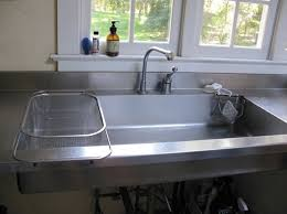 shallow kitchen sink sink as work surface designed by a cook improvised life