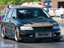 subaru evo 8 all sport mitsubishi evo viii attacks cones and quarters