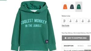H M H M Coolest Monkey Hoodie Banned By Ebay News