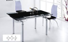 gorgeous glass drop leaf table extendable wood and black glass top