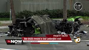 crashed red lamborghini new details revealed in fatal lamborghini crash 10news com kgtv