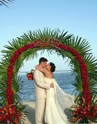 wedding arch leaves coconut leaves arch search diy wedding decor